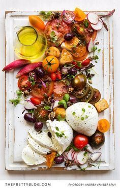 Fresh Caprese Salad with a Twist ... Nothing says Summer quite like a fresh and zesty tomato salad!