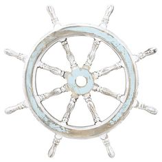 "Captain's Wheel Wall Decor ""Drop Anchor"" sale!"