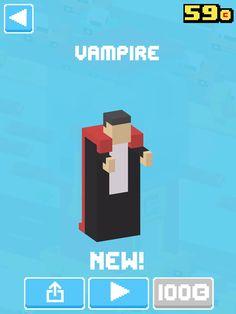 Just unlocked Vampire! #crossyroad