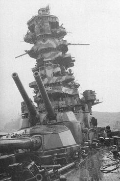 Battleship Ise - Main gun firing of Japan last battleship