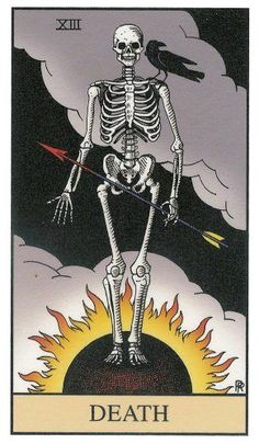 Did you know that Tarot cards are not just of the Wicca religion? Learn how Tarot cards originated, how to make a spread and the art of reading, and what all the cards symbolize. Tarot Death, Tarot Card Tattoo, La Danse Macabre, Major Arcana, Oracle Cards, Skull And Bones, Skull Art, Tarot Cards, Dark Art