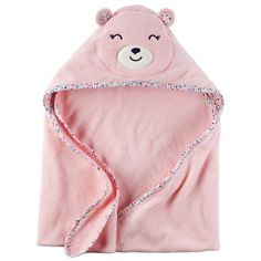 Carter's Hooded Bath Towel - Little Bear - Pink: Super cute and gentle, this soft terry character hooded towel will keep your baby girl warm after a bath Carters Baby Girl, My Baby Girl, Baby Baby, Baby Doll Nursery, Baby Dolls, Little Babies, Cute Babies, Babies Stuff, Hooded Bath Towels