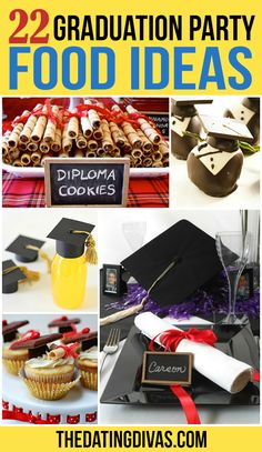 graduation celebration diy graduation celebration food 22 Graduation Party Food Ideas- so many clever graduation-themed snacks and desserts for a graduation party! Graduation Card Boxes, Graduation Party Foods, Graduation Theme, College Graduation Parties, Graduation Celebration, Grad Parties, Graduation Ideas, Nursing Graduation, Party