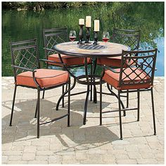 View Wilson & Fisher® Wingate 5-Piece Dining Set Deals at Big Lots.  I bought this set and absolutely love it.  Looks very elegant!