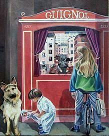 Fresques de Lyon - la maison des canuts / théâtre de Guignol