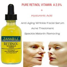 RETINOL VITAMIN A 2.5% + Hyaluronic Acid Acne Scar Removal Cream Spots Facial Serum Anti Wrinkle Whitening Face Cream 30ml