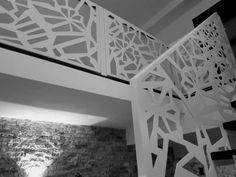 Scari interioare moderne - Traforate.ro Banisters, Gate Design, Cnc, Stairs, Patio, Staircases, Interior, Home Decor, Ladders