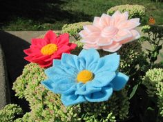 ANGELINA FLOWER Felt Flower Pattern Felt Flower by SewYouCanToo