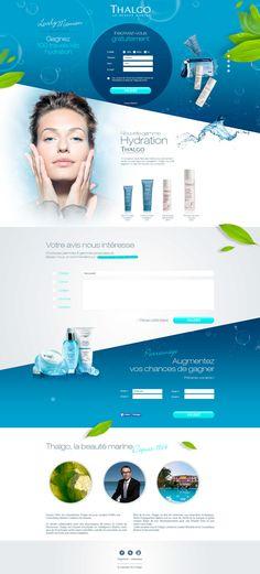 Unique Web Design, Thalgo #webdesign #design (http://www.pinterest.com/aldenchong/)