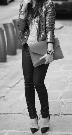 fabulous jacket, fabulous clutch, fabulous shoes