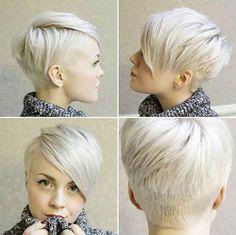 10 opgeschoren korte kapsels in Platina blond! - Kapsels voor haar