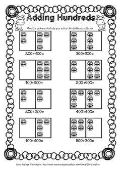 adding hundreds worksheets hundreds addition worksheets printables. Black Bedroom Furniture Sets. Home Design Ideas