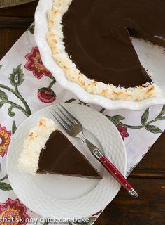 Coconut Crusted Chocolate Ganache Pie