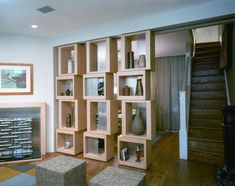 Great idea for small spaces, use the sliding dividers to open up entertaining when guests are around or to divide living space at other times