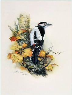 Птицы и цветы китайского художника Zeng Xiao Lian - Ярмарка Мастеров - ручная работа, handmade