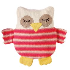 Aroma Home USA | Knitted animal owl Knitted animal hotties range