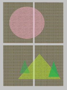 "Saatchi Art Artist Heather Bolton; New Media, ""Langton Shadows No 5 Window with Circle and Triangles"" #art"