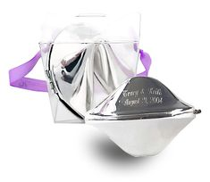 "Engraved Silver Fortune Cookie in Takeout Box Fortune Cookie Size: 3""L One of our top keepsakes, this Silver Fortune Cookie Takeout Box was featured in Everyday with Rachel Ray and The Plain Dealer's Bridal Planner , Ohio's largest daily newspaper. Give a gift that won't soon forgotten by presenting your recipient with an Engraved Silver Fortune Cookie in Takeout Box. This shining silver trinket, nestled in a takeout style box, is great for a New Year's Eve party, a modern Asian themed…"