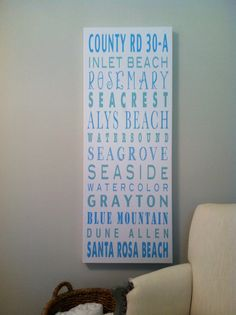 30A Sign 18x48  Communities along 30A Florida by PrintandPaper, $250.00