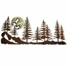 metal wall art pine trees | Pine Forest Metal Wall Art