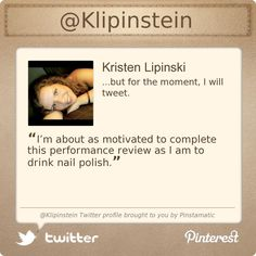 @Klipinstein's Twitter profile courtesy of @Pinstamatic (http://pinstamatic.com)