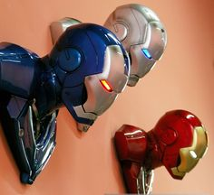 2014 Real New Brinquedos Anime Toys High Quality Avenger Lamp Light Iron Man Wall 3type Led Lighting Model free Shipping