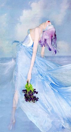 Sweet Escape   Karlie Kloss by Nick Knight for W Magazine, October 2012 #Versace #couture