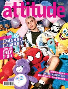 Attitude cover with sweetheart Olly Alexander...lav ya <3
