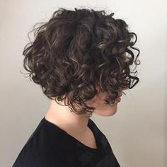 65 Different Versions of Curly Bob Hairstyle Short Curly Brunette Bob Haircuts For Curly Hair, Short Wavy Hair, Curly Hair Cuts, Curly Hair Styles, Wavy Hairstyles, Short Curls, Undercut Hairstyle, Wavy Bobs, Long Pixie
