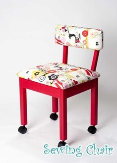 Love my cute sewing chair!