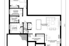 Plan de Maison Moderne Ë_137 | Leguë Architecture Bungalow, Plane, Best Investments, Architecture, House Plans, Floor Plans, How To Plan, Mj, Villas