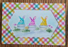 Art Impressions Art Impressions Stamps, Bunny, Cards, Cute Bunny, Rabbit, Maps, Playing Cards, Rabbits, Baby Bunnies