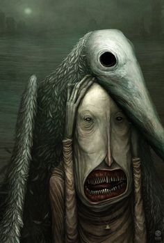 ideas for dark art illustrations scary Art And Illustration, Dark Art Illustrations, Fantasy Kunst, Dark Fantasy Art, Creepy Art, Weird Art, Arte Horror, Horror Art, Arte Black