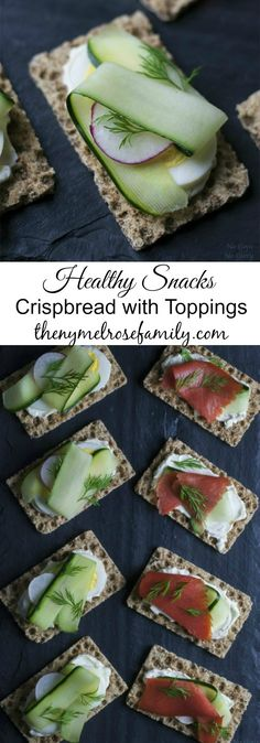 Crispbread with healthy toppings are the perfect healthy snacks for any time of the day.