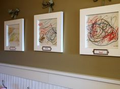 Displaying Kids Artwork in a Sophisticated Fashion