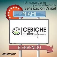 Un nuevo cliente ubicado en Miami, genera mayor impacto, reduce costos de impresión y a su vez autogestiona su menú con Señalizacion Digital - CEBICHE STATION Mas informacion por www.imvinet.com