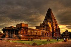"""Tanjore Brihadeeswarar Temple is also known as The Periya Koil or 'Big Temple'. Showcasing pure Dravidian architecture, the temple was built in the Chola capital of Tanjavur under the aegis of the Chola king Rajaraja Chola in 1010 A.D. Designed by Sama Varma, the architecture of Brihadeeswara temple is unique in that the temple casts no shadows on the ground at noon during any time of the year."""