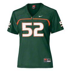 Women's Miami Hurricanes Replica Football Jersey: Nike