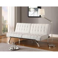 19800 Faux Leather Bycast Adjustable Futon Sofa Multiple Colors
