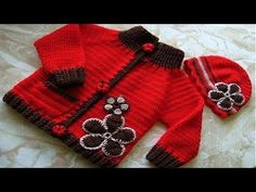 uncinetto art monica su MissHobby: comfortable sweater for baby, perfect for spring. Crochet Baby Sweaters, Crochet Baby Cardigan, Crochet Kids Hats, Crochet Girls, Crochet Baby Booties, Knitting For Kids, Crochet Clothes, Diy Clothes, Baby Knitting