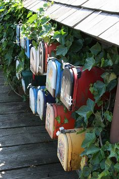 Mailboxes for floating homes Downtown Vancouver by enigmapirates, via Flickr