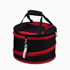 Pin it! :) Follow us :)) CLICK IMAGE TWICE for Pricing and Info :) SEE A LARGER SELECTION of camping coolers at   -  hunting, camping accessories, camping insulated bags, coolers, camping gear, camp supplies - Picnic at Ascot Compact Pop-Up Cooler in Black and Red « zCamping.com