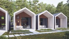 Modern Tiny House, Tiny House Cabin, Tiny House Village, Container House Design, Small House Design, Minimalist House Design, Townhouse Designs, Casas Containers, A Frame House