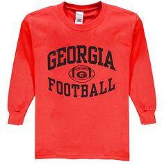 Georgia Bulldogs New Agenda Youth Reversal Football Long Sleeve T-Shirt - Red - $11.99