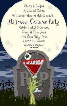 Awesome Halloween invitation
