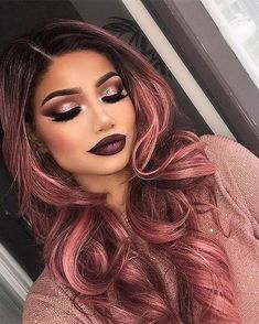 Rose Gold Hair Hair Color The most beautiful hair ideas, the most trend hairstyles on this page. Summer Hairstyles, Pretty Hairstyles, Latest Hairstyles, Hairstyles 2018, Hairstyle Ideas, Men's Hairstyle, Formal Hairstyles, Messy Hairstyles, Cabelo Rose Gold