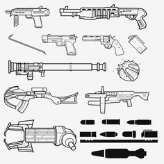 Half Life 2 Weapon Shapes by ~Zeptozephyr on deviantART
