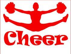 Cheerleader Vinyl Name Decal Vinyl Cheer Decal Custom Decal