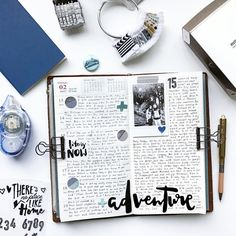"""257 Likes, 6 Comments - Theresa D (@mydocumentedlife) on Instagram: """"Week 7 in my traveler's notebook.  Trying to use my stash as much as possible this year, I've…"""""""