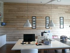 Stuart Barr offices themselves. Scaffold boards as the walls - simple but genuis!